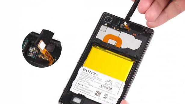 آموزش تعویض باتری گوشی SONY z1