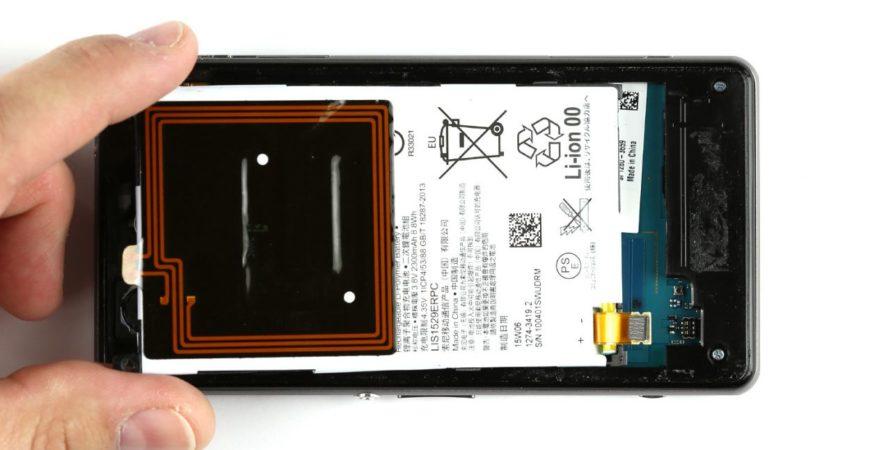 آموزش تعویض باتری SONY Z1mini