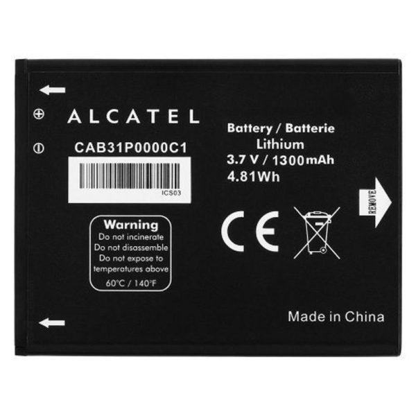 باتری اورجینال آلکاتل One Touch OT 2010 با ظرفیت 750mAh
