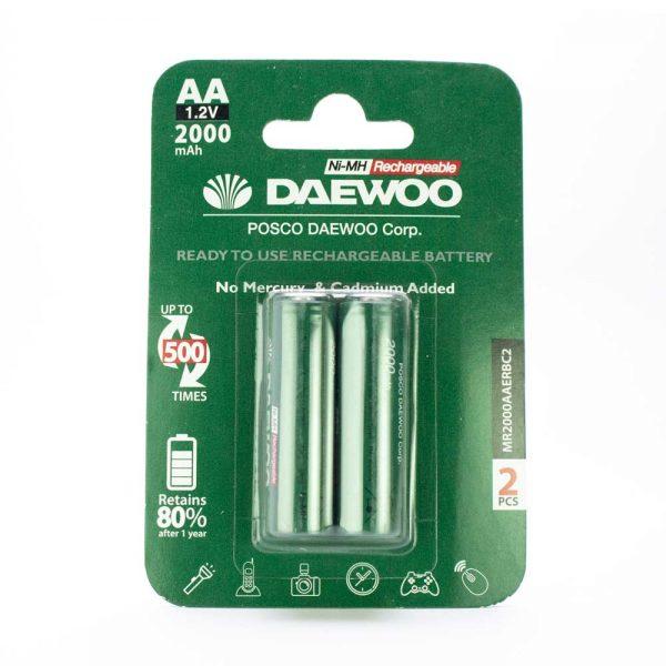 باتری قلمی Daewoo قابل شارژ 2000 میلی آمپری
