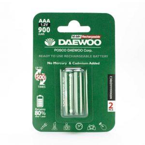 باتری نیم قلمی Daewoo قابل شارژ 900 میلی آمپری