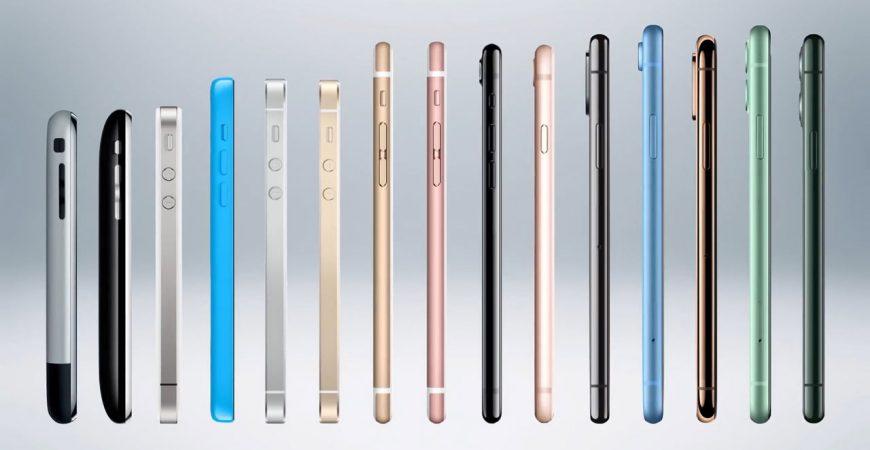 تاریخچه گوشی های آیفون 2007 تا 2019
