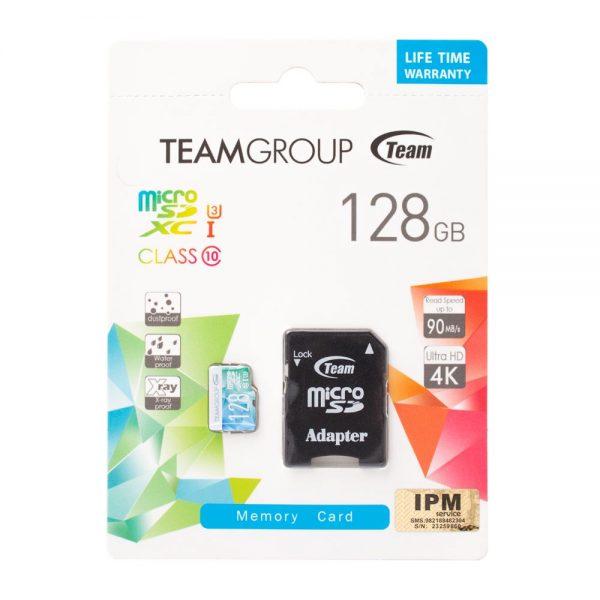 مموری میکرو اس دی 128 گیگ تیم گروپ Team Group Micro SDXC