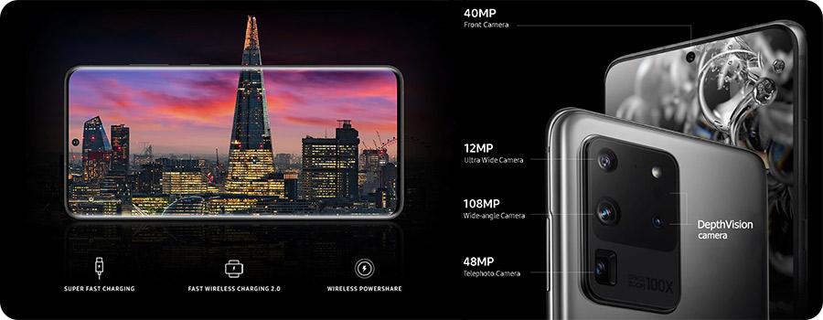 گوشی سامسونگ اس20 اولترا Samsung Galaxy S20 ultra